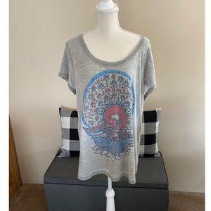 Lucky Brand Peacock Tee Shirt Size 1X